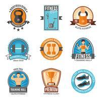 Badges Club De Fitness Et De Gym