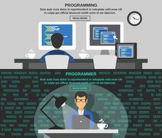 Bannière de programmeur vecteur