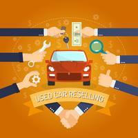 Concept de revente de voiture vecteur