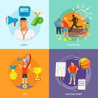 Coaching Sport Plat vecteur