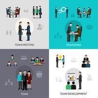 Jeu d'icônes de travail d'équipe