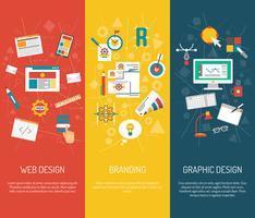 Ensemble de bannières de designer