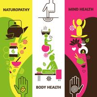 Jeu de bannières de médecine alternative