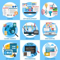 Concept de développement Web vecteur