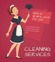 Illustration de publicité de nettoyage