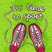 Affiche de sport gumshoes vecteur