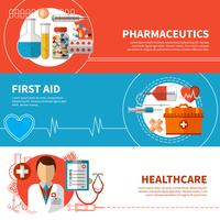 Bannières médicales horizontales