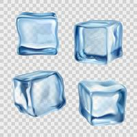 Glaçons Bleu Transparent vecteur