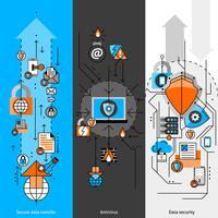 Ensemble de bannières de ligne de protection des données
