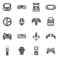 Jeu d'icônes de jeu vidéo vecteur
