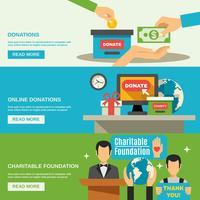 Ensemble de bannières de charité