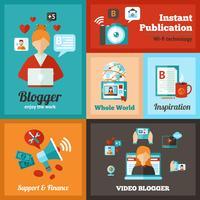 Ensemble d'affiche de blogueur