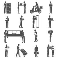 Set d'icônes de livreur