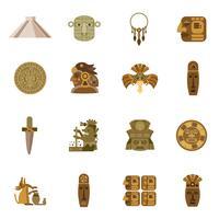 Icône plate Maya vecteur