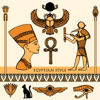 Jeu de couleurs d'Egypte vecteur