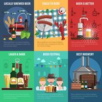 Ensemble d'affiches de bière vecteur