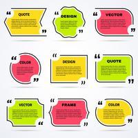 Citations inspirantes colorées décrites ensemble d'icônes vecteur
