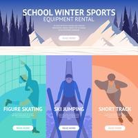 Bannière de sport d'hiver