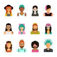portraits de personnes de la sous-culture vecteur
