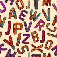 modèle sans couture zentangle alphabet vecteur
