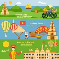 Vietnam bannière ensemble vecteur