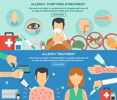 Allergie bannière ensemble