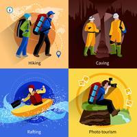 Ensemble d'icônes de tourisme