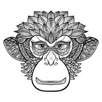 Visage de singe de singe vecteur