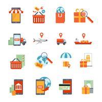 Jeu d'icônes M-commerce