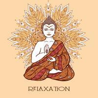 Bouddha avec Mandala Ornemental