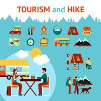 Tourisme et randonnée infographie