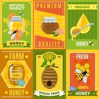 Ensemble d'affiches au miel vecteur