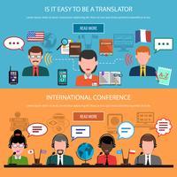 Bannières horizontales de traduction