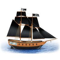 Illustration de bateau de pirate vecteur