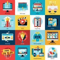 Processus créatif Concept Icons Set