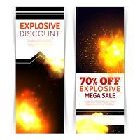 Bannières de vente d'explosion