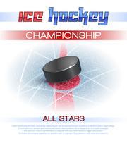 Affiche de hockey sur glace vecteur