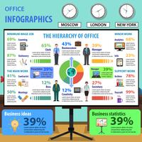 Ensemble d'infographie de bureau vecteur