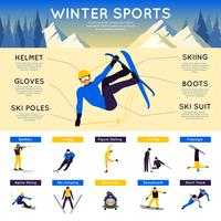 Infographie Sports d'hiver