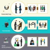 Ensemble de bannière de travail d'équipe