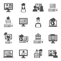 e-learning icons set vecteur