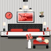 Concept de design de chambre vecteur