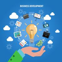Concept de développement commercial vecteur