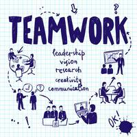 Concept de conception de travail d'équipe