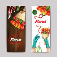 Ensemble de bannière de couleur de fleuriste