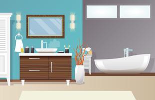 Intérieur de la salle de bain moderne vecteur