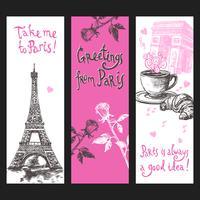 Ensemble de bannières verticales Paris