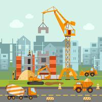 Illustration de travaux de construction