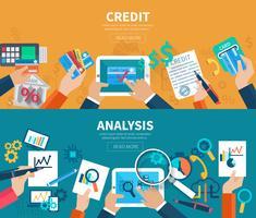 Analyse de crédit bannière ensemble