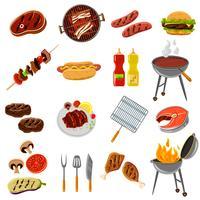 ensemble d'icônes de barbecue